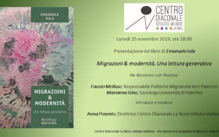 Presentazione del libro di Emanuele Iula Migrazioni e modernità. Una lettura generativa Editrice Queriniana, 2019